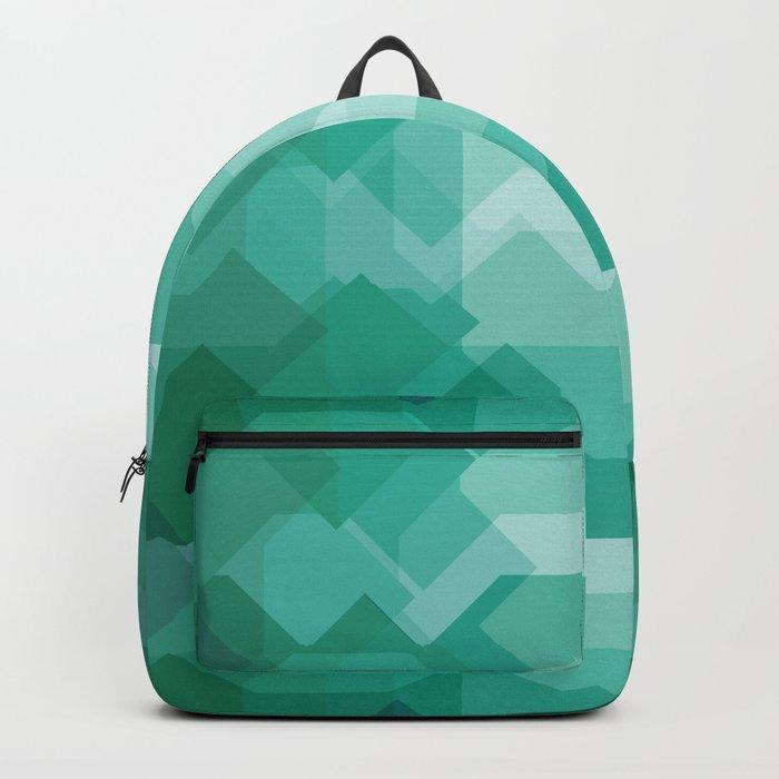 Emerald gem stone Backpack