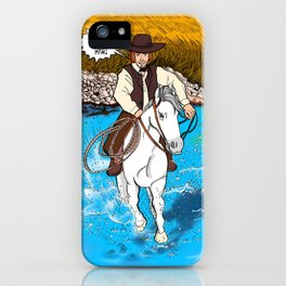 Frontier Tales: Jimmy and his horse Jack iPhone Case