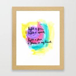 charlie brown / coldplay  Framed Art Print
