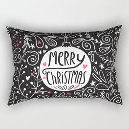 Merry Christmas doodles Rectangular Pillow