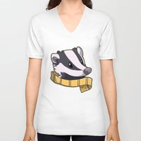 hufflepuff V-neck T-shirts featuring Hufflepuff by Clair C