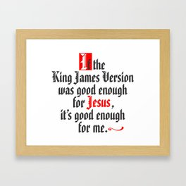 King James Version Framed Art Print