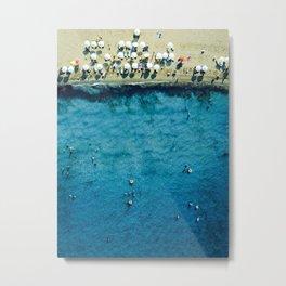 Aerial: On The Beach Metal Print