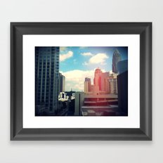 Looking Over The City. Framed Art Print