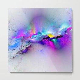 Unreal Rainbow Explosion Metal Print