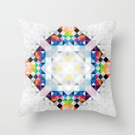 Triangles in square Throw Pillow
