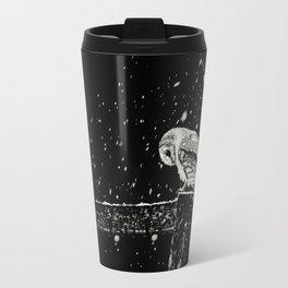 Snowfall at Night (Owl) Travel Mug