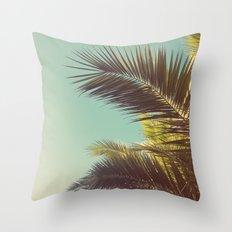 Autumn Palms Throw Pillow