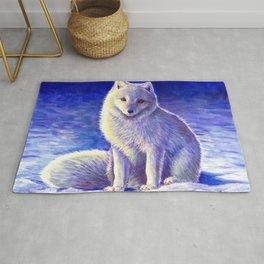 Peaceful Winter Arctic Fox Rug