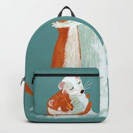 Weasel hugs Backpack