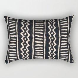 African Vintage Mali Mud Cloth Print Rectangular Pillow