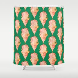Heliconia Green Shower Curtain