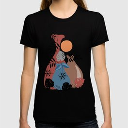 Abstract botanical art T-shirt