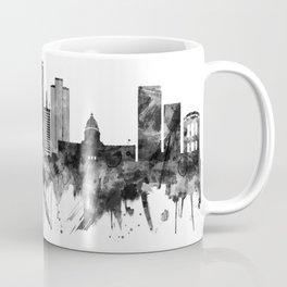 Salt Lake City Utah Skyline BW Coffee Mug