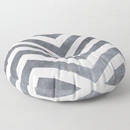 Geometrical mauve gray pink watercolor pattern Floor Pillow