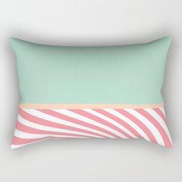 Swirly Pink and Green Pastel Pattern Rectangular Pillow