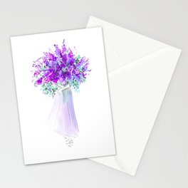 Woman with Bouquet no 3 Stationery Cards