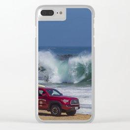 Newport Beach Lifeguard Truck Clear iPhone Case