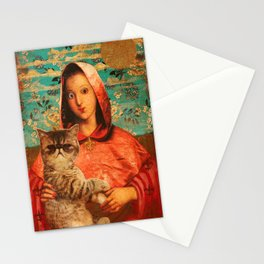 Madonna With Cat Stationery Cards
