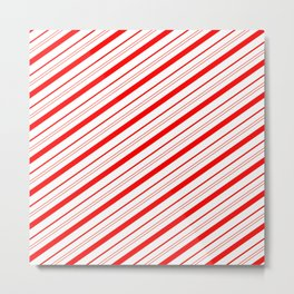 Candy Cane Stripes Metal Print
