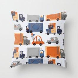 Cars & Trucks Throw Pillow