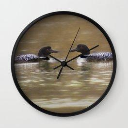 Passing Loons Wall Clock