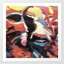Moody Cow Art Print