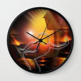 Moments - moon dance Wall Clock