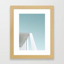 Blue and White Minimalism Framed Art Print