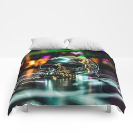 Rainbow Skull Ring Comforters