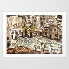 Tannery in Fes, Morocco Art Print