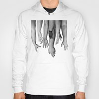 hands Hoodies featuring Hands by Austin Collins