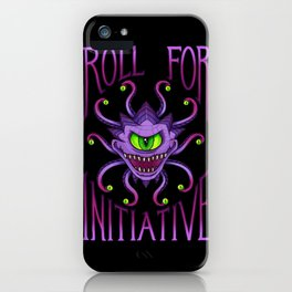 Roll for Initiative - Pink iPhone Case