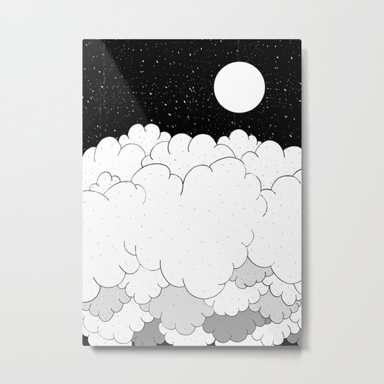 The moon and the clouds Metal Print
