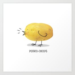 potato-cheeps Art Print