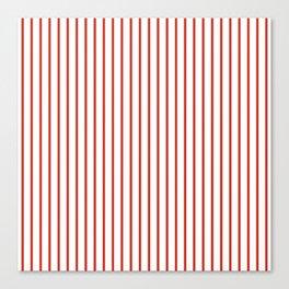 Dahlia Red Pinstripe on White Canvas Print