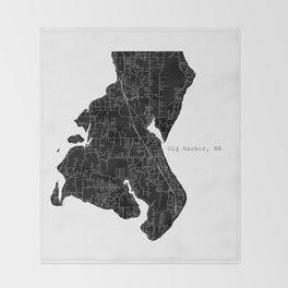 Gig Harbor, WA Throw Blanket