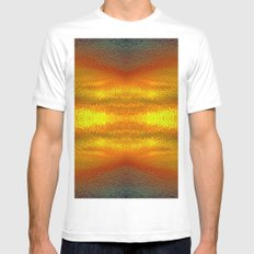 Fire in the sky Mens Fitted Tee MEDIUM White