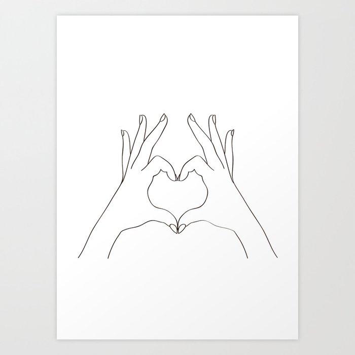 Love Heart Kunstdrucke