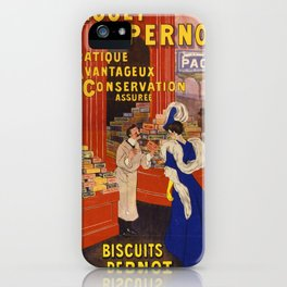 Vintage poster - Biscuits Pernot iPhone Case