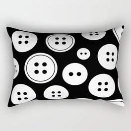 Black and White Buttons Pattern Rectangular Pillow