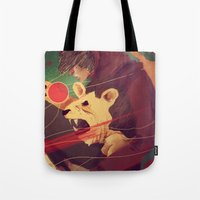 courage Tote Bags featuring Courage by James M. Fenner