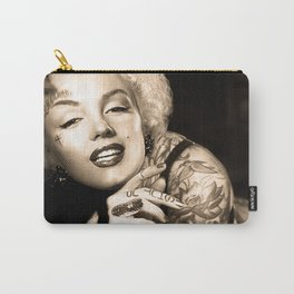 Marilyn Vintage Tattoo Portrait | Celebrity Fan Art Carry-All Pouch