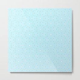 Cyan Pattern 3 Metal Print