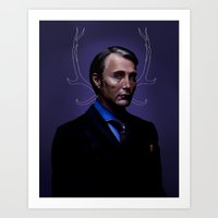 hannibal Art Prints featuring Hannibal by Palloma