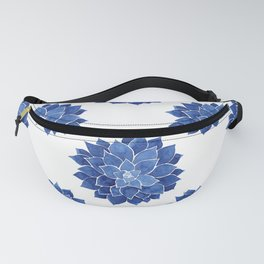 Indigo Succulent |  Watercolor Painting Fanny Pack