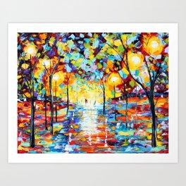 Warm Glow of Night Art Print