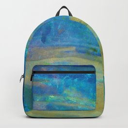 Sunrise Fire Opal Abstract Backpack