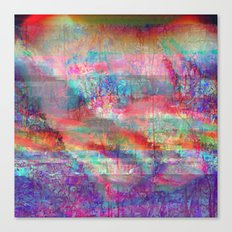 23-18-45 (Acid Rain Bed Glitch) Canvas Print
