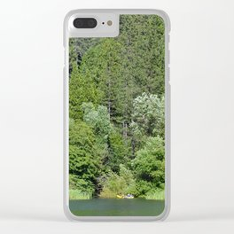 one kayak in the green Clear iPhone Case